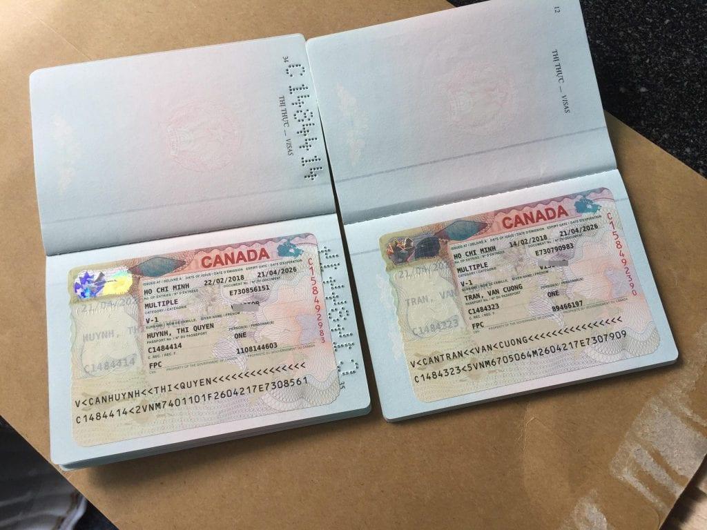 visa công tác Canada